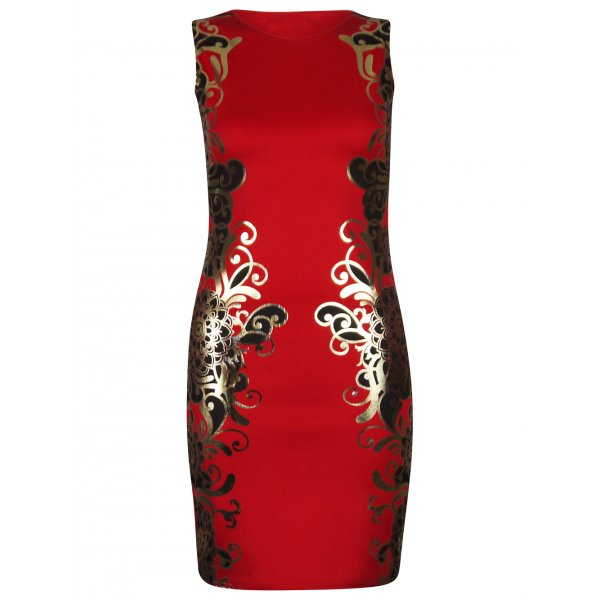 KENNEDI BODYCON DRESS - RED-
