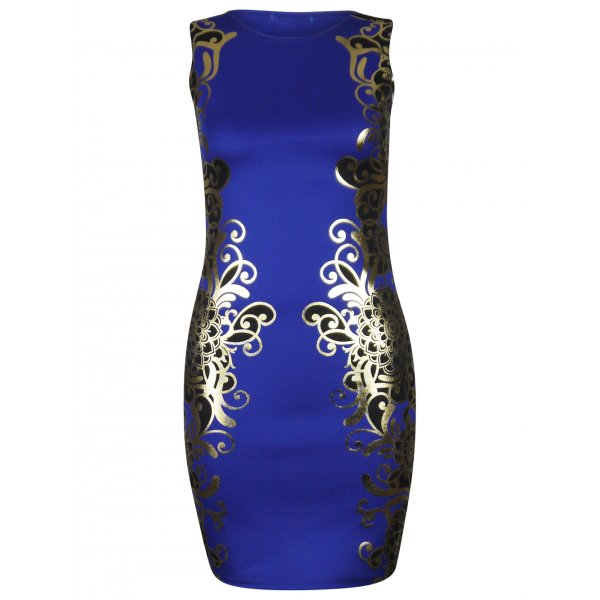 KENNEDI BODYCON DRESS - BLUE-
