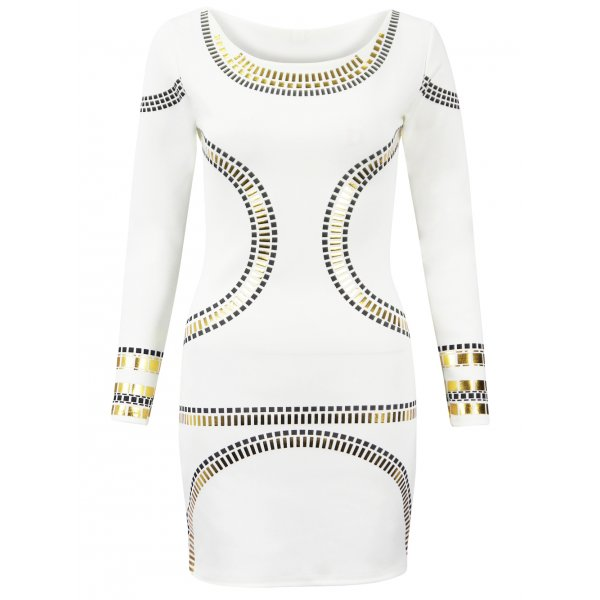 KIM BODYCON DRESS - OFF WHITE (PREORDER)-
