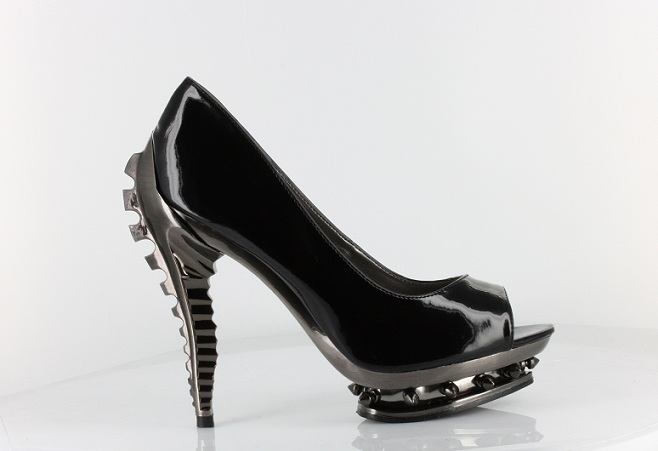 LAYLA PUNK HEELS - BLACK-PEEP TOE, PUMP, HEEL, DIVA, BLACK