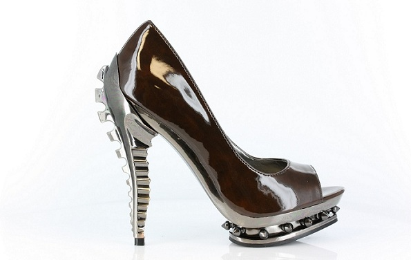 LAYLA PUNK HEELS - BROWN-BROWN, HEEL, PUNK, PUMP, DIVA