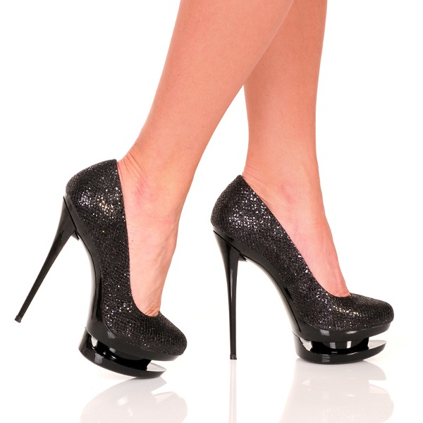 MADISON GLITTER PUMPS - BLACK-DIAMOND-111