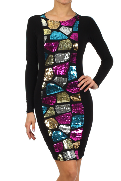 MONICA SEQUINS DRESS (PREORDER)-
