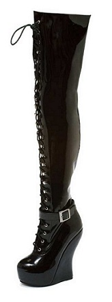 OPAL THIGH-HIGH BOOTS - PATENT-