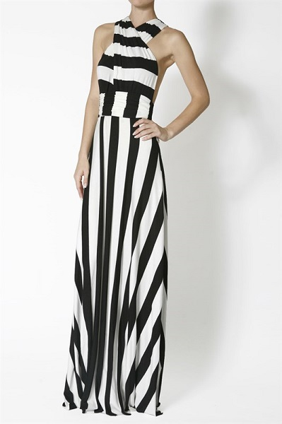 PARIS MAXI DRESS - BLACK/OFF WHITE-