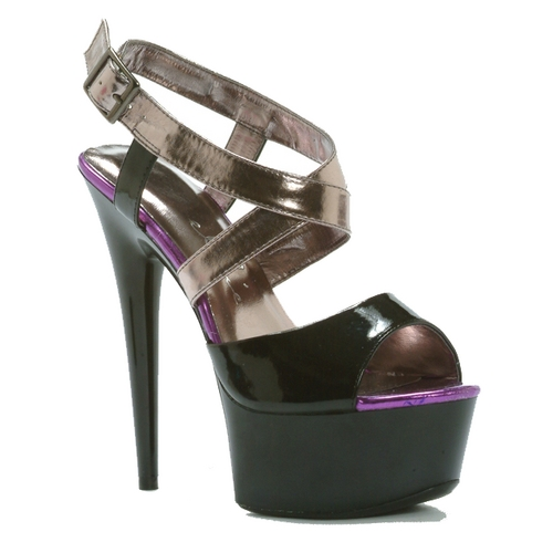 PAYA COLOR BLOCK SANDAL - SILVER-