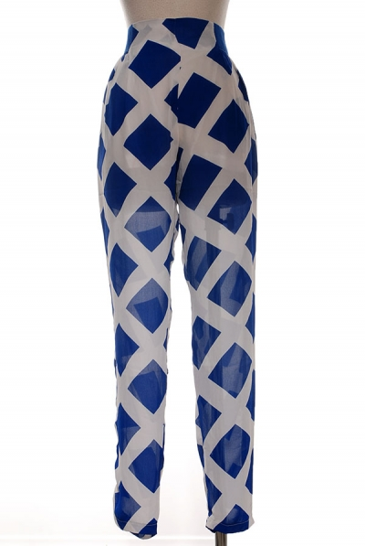 PAYTON SHEER PANTS - BLUE-