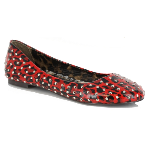 PENNY LEOPARD FLAT - RED-BP016-PENNY