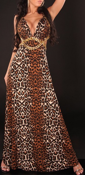 PRINCESS MAXI DRESS - LEOPARD-