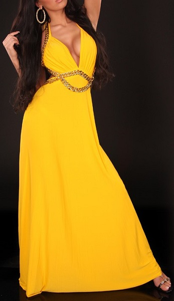 PRINCESS MAXI DRESS - YELLOW-
