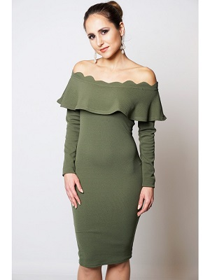 RILEY DRESS - OLIVE-