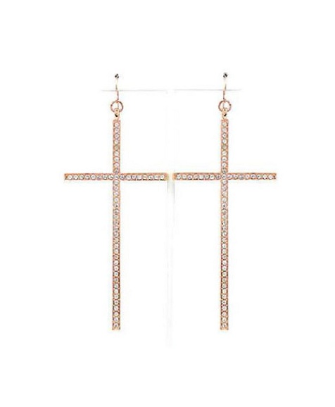 GLAM CROSS EARRINGS-