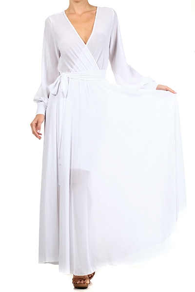 SAHARA CRUISE MAXI DRESS - WHITE-