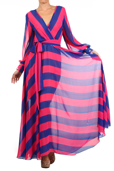 SAHARA CRUISE MAXI DRESS - PINK/BLUE (PRE-ORDER)-