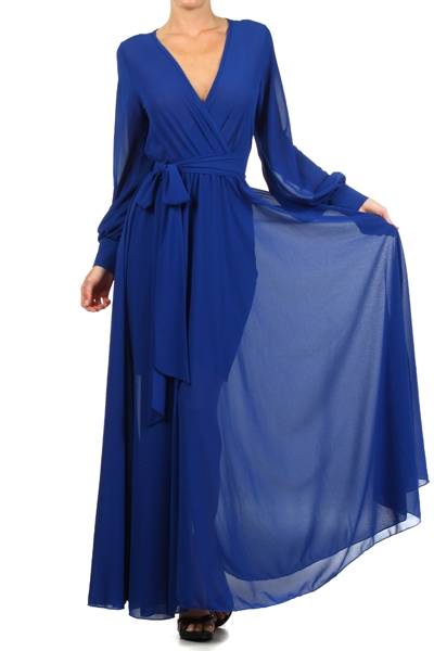 SAHARA CRUISE MAXI DRESS - ROYAL BLUE-