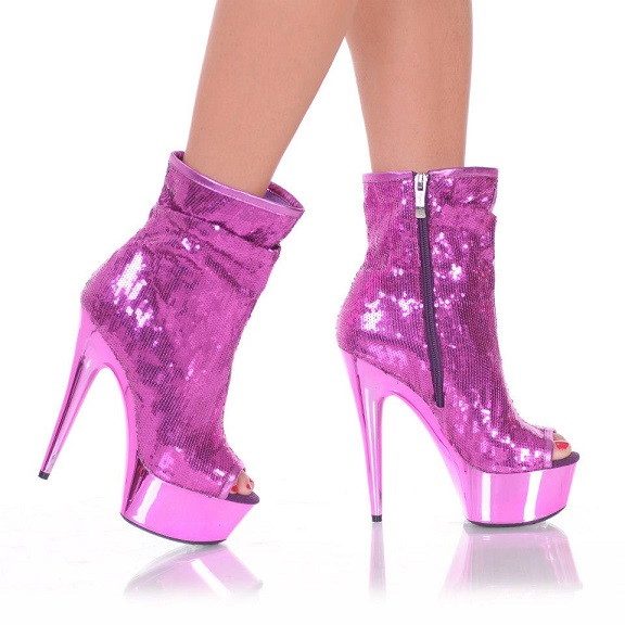 SASSY SEQUIN BOOTS - PINK-