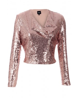 SHERRI SEQUIN JACKET - ROSE GOLD (PRE-ORDER)-