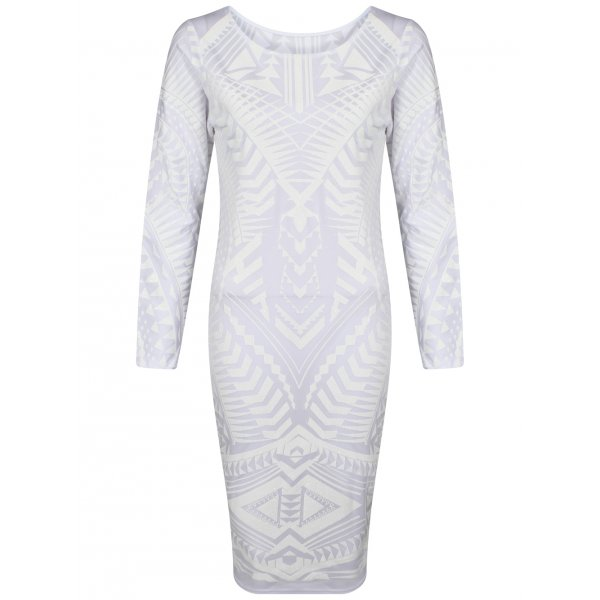 SKYLAR KNEE LENGTH DRESS - WHITE (PRE-ORDER)-