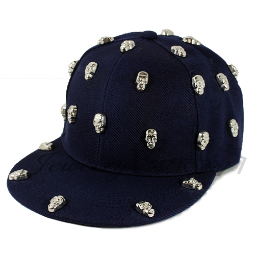SKULL STUDDED HAT - VARIOUS COLORS-