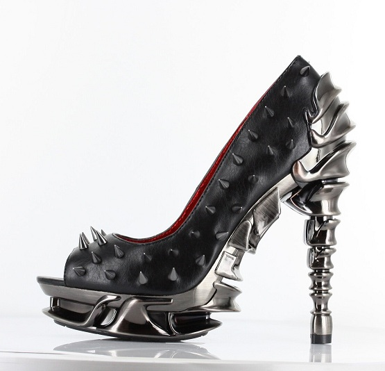TALLON SPIKE PUMPS - BLACK-MS-TALON, talon,