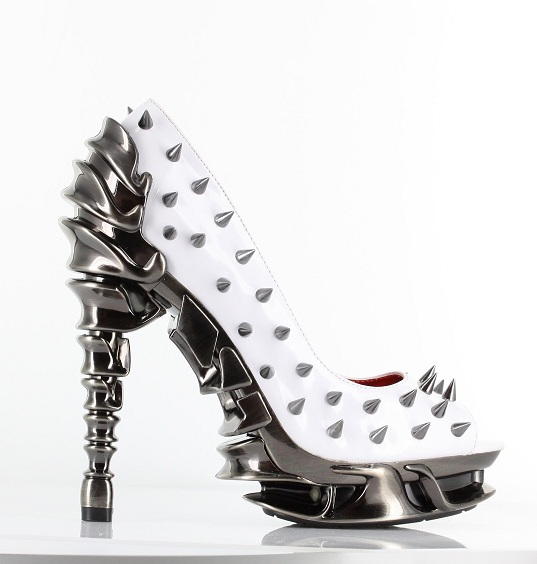 TALLON SPIKE PUMPS - WHITE-