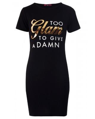 TOO GLAM DRESS - BLACK-