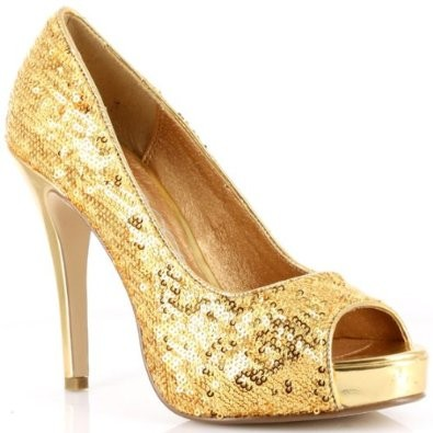 VEGAS SEQUINS PUMP - GOLD-