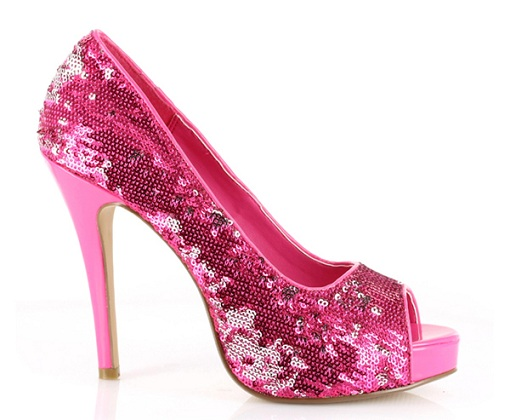 VEGAS SEQUINS PUMP - PINK-