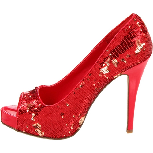 VEGAS SEQUINS PUMP - RED-