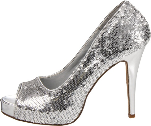 VEGAS SEQUINS PUMP - SILVER-