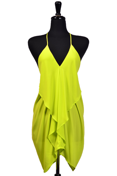 XENA DRESS - NEON GREEN-
