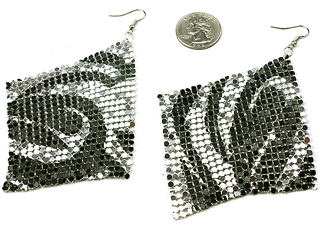 ZEBRA SHIMMER EARRINGS-ZEBRA, SHIMMER