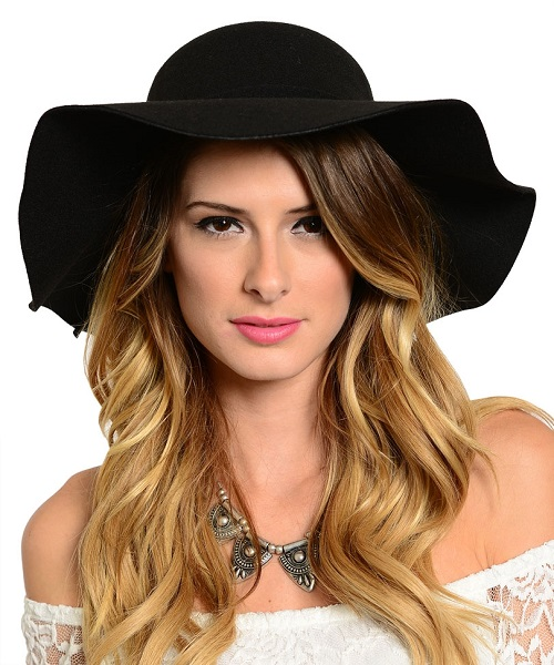 BLACK FLOPPY HAT-