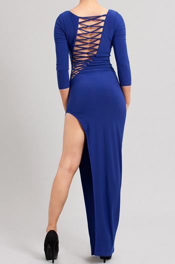 DESI MAXI DRESS - ROYAL BLUE-