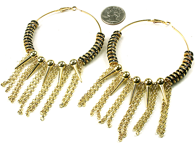 SASHA FIERCE HOOPS-GOLD, SILVER, HOOPS