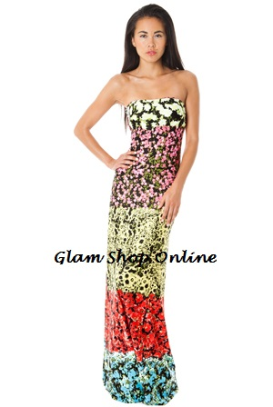 FLORA STRAPLESS MAXI DRESS-
