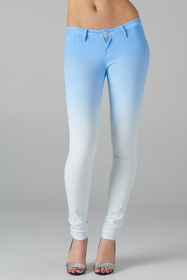 FADE TO WHITE JEANS - BLUE-