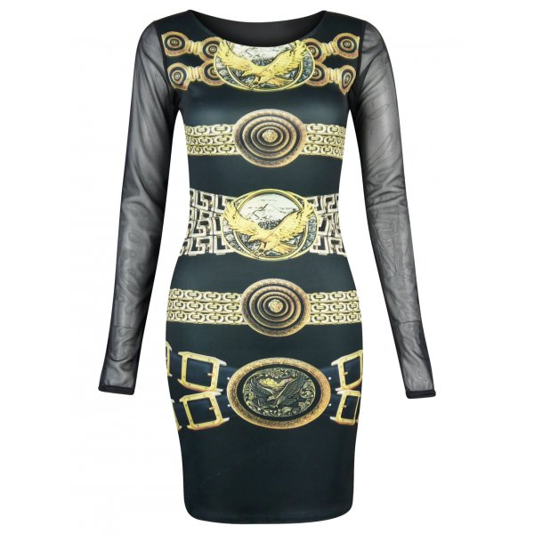 GOLD CHAINS DRESS-VERSACE INSPIRED