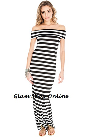 KEREN MONOCHROME MAXI DRESS-