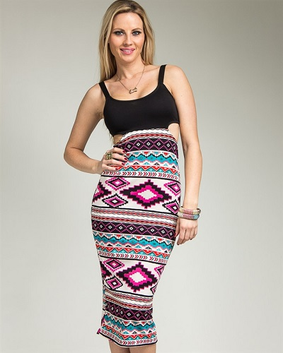 MARISSA AZTEC DRESS-