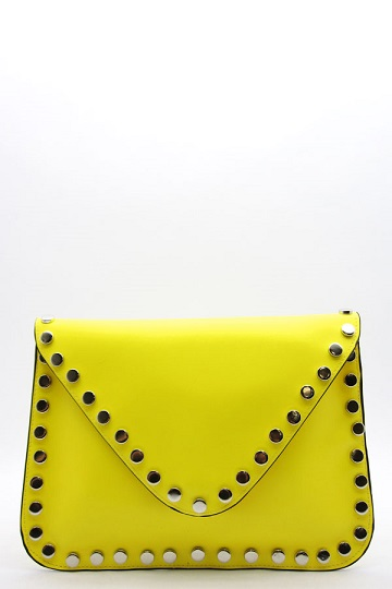ENVELOPE CLUTCH - YELLOW-