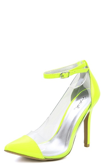 NEON YELLOW CLEAR PUMP-