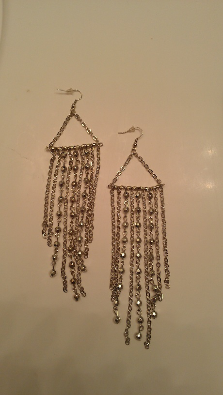SILVER LEA HANGING EARRINGS-