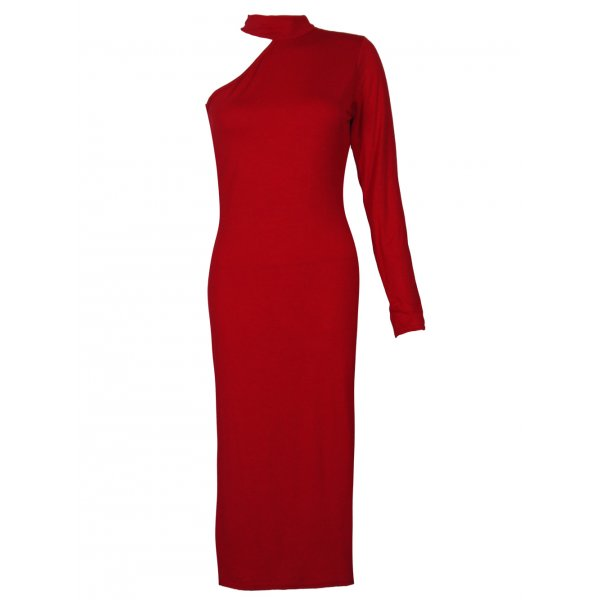 ALEXANDRA DRESS - RED-
