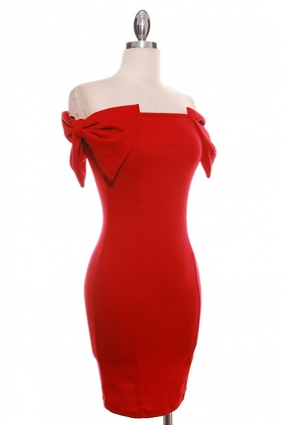 SWEETHEART DRESS - RED-